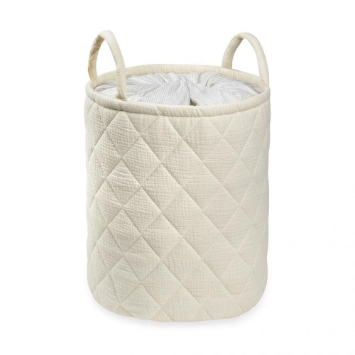 Quilted storage Bag With Handle Tetra Storage Bin Closet Toy Box Container Organizer Fabric Basket