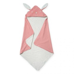 Pink Tetra Cotton Cat Hooded Baby Blanket