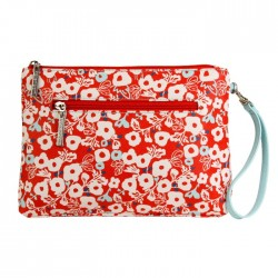 Berry Blossom Red Vegan Diaper Clutch